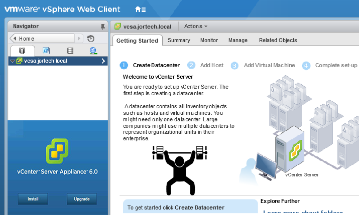 Deploying a VMware vCenter Server Appliance (VCSA) – Installation
