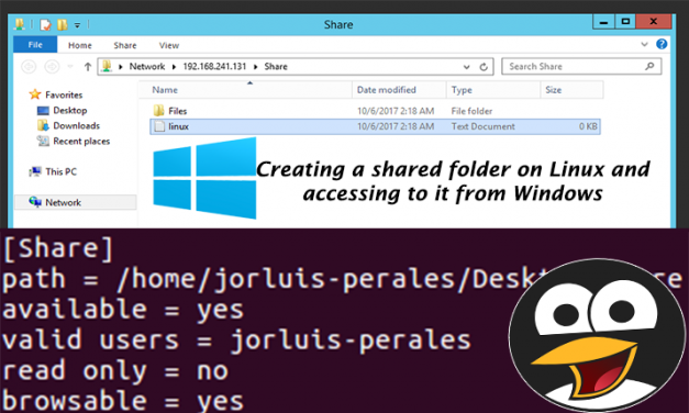 Creating a shared folder on Linux and accessing to it from Windows