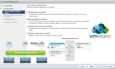 How to migrate a VMkernel port from a Standard Switch to a Distributed Switch on VMware