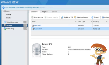 Adding a Nutanix Network Share as a Datastore in VMware ESXi