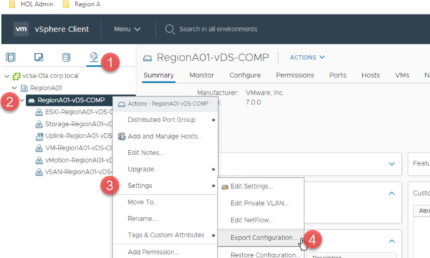 vSphere Distributed Switch backup, why it is so important?